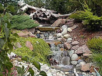 Waterfall Large with Stones