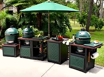 big green egg table design