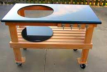 big green egg table plans granite