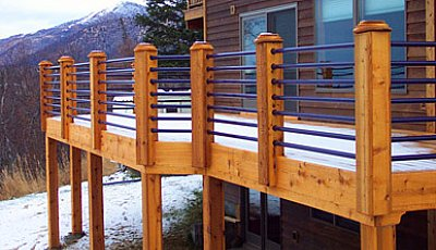 deck railing horizontal tubes - Deck Railing Design Ideas