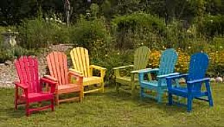Adirondack Chairs in Colors