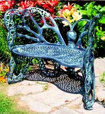 Garden Bench - butterfly design