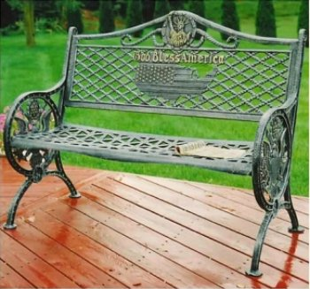 Outdoor Bench - God Bless America