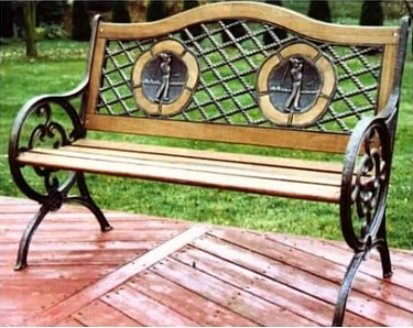 outdoor bench - golf theme