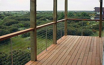 cable deck railing system