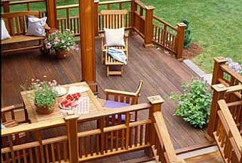 Deck Material Redwood