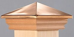 deck post cap - copper