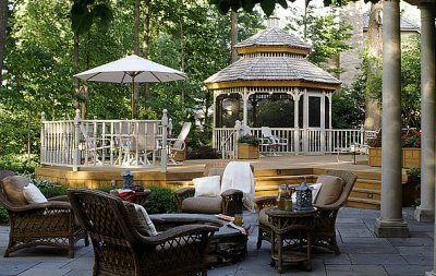luxury deck with gazebo