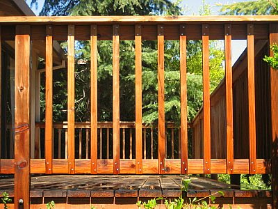 how to build wood railing on a deck
