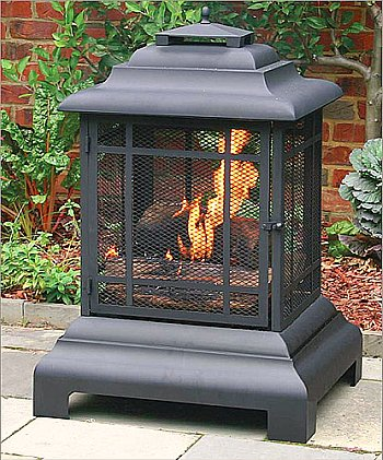 outdoor fireplace pagoda