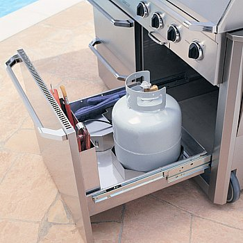 grill cart with slide out