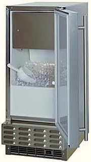 outdoor ice maker - open door