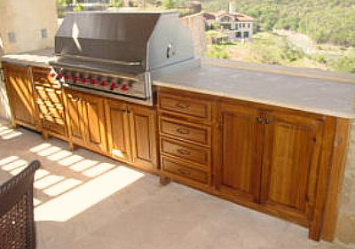 Beautiful Outdoor Kitchen Cabinet   Teak