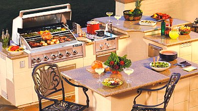 Outdoor Kitchen Island with Granite