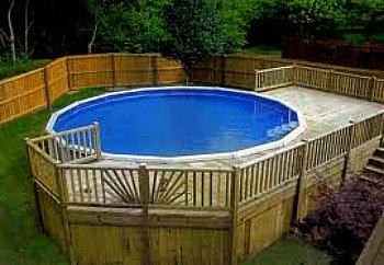 Partial Surround Pool Deck