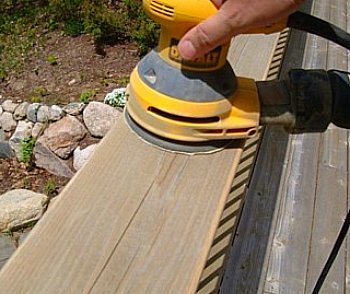 Sanding  Deck Railing