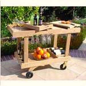 outdoor serving cart - teak