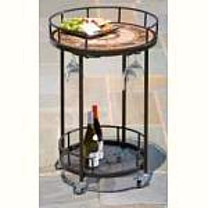 outdoor serving cart - round