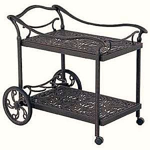 outdoor serving cart - wrought iron