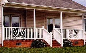 sunburst deck railing - combo