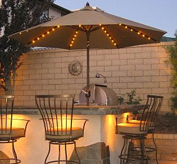 Delicieux Lighted Patio Umbrella