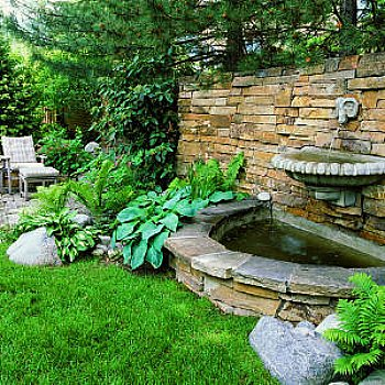 wall fountain - stone