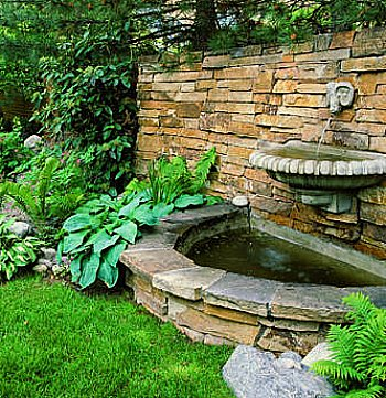 backyard water wall