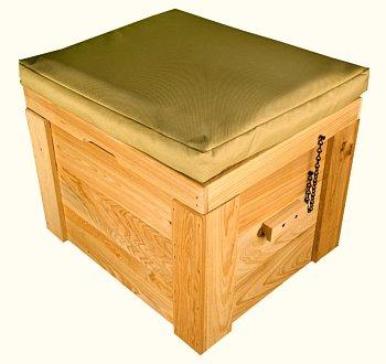 LoBoy deck box with cushion
