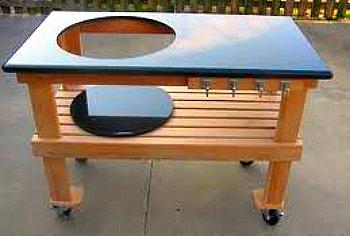 Big Green Egg Table - granite