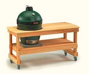 Big Green Egg in table