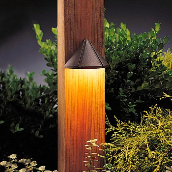deck light on post