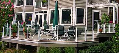 Deck railing - glass