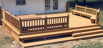 Built In Deck Bench