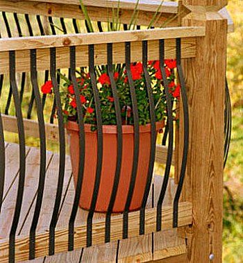 deck railing - curved aluminum balusters