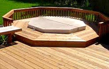 hot tub deck - octogon