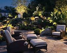 outdoor lighting with outdoor furniture