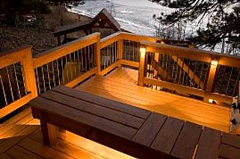 deck lighting. Deck Lighting CanTransform Your Into A Showplace