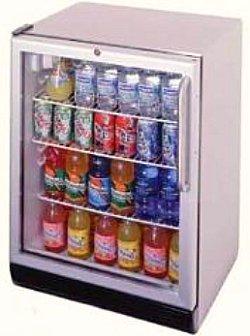 outdoor refrigerator with glass door