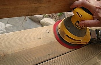 Sanding Deck Boards