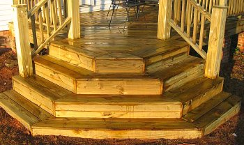 Best deck stair design