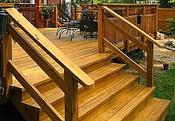 deck stair design must complement the overall deck design - Deck Stairs Design Ideas