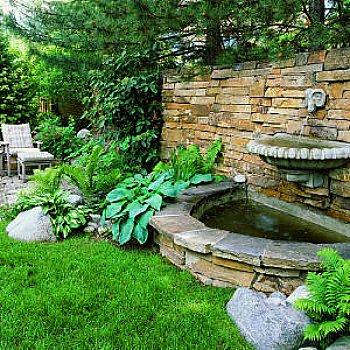 wall fountain - stone